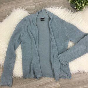 Eileen Fisher Blue Cardigan Sweater Size Medium